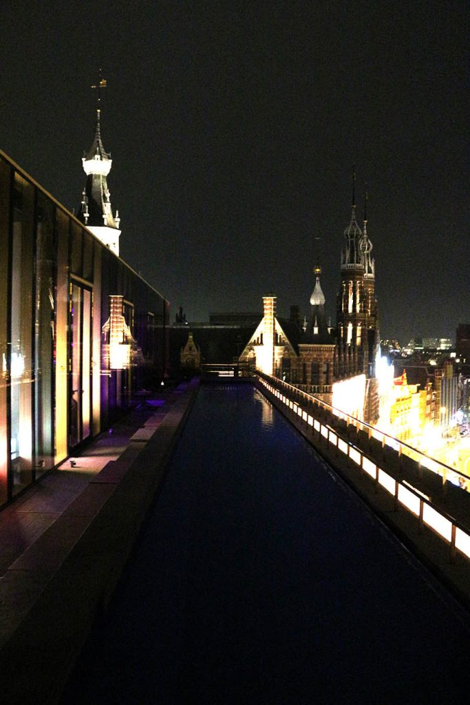 W hotel Amsterdam pool lounge view