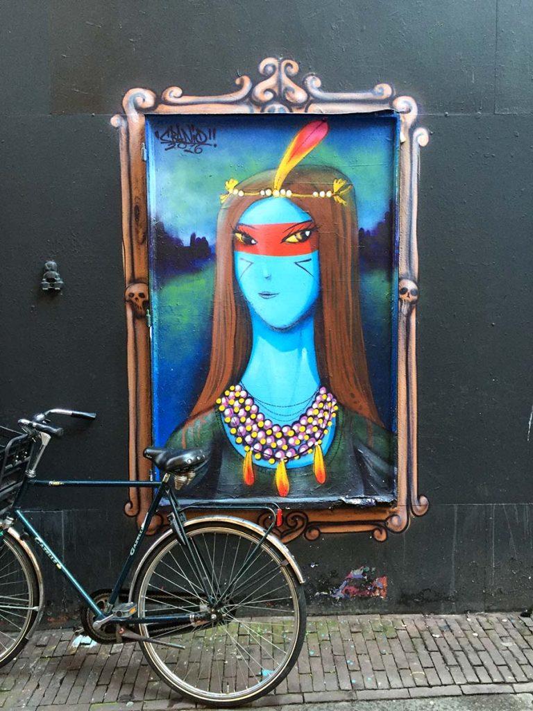 Best street art in Amsterdam - Amsterdam graffiti locations - Amsterdam colorful street art