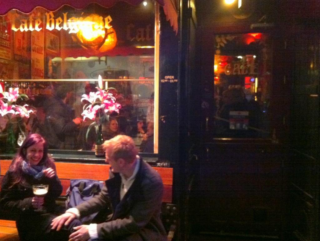 Visit one of our favorite Belgian beer bars in Amsterdam - Cafe Belgique.