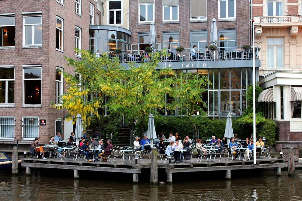10 BEST WATERSIDE TERRACES IN AMSTERDAM- cafe de jaren
