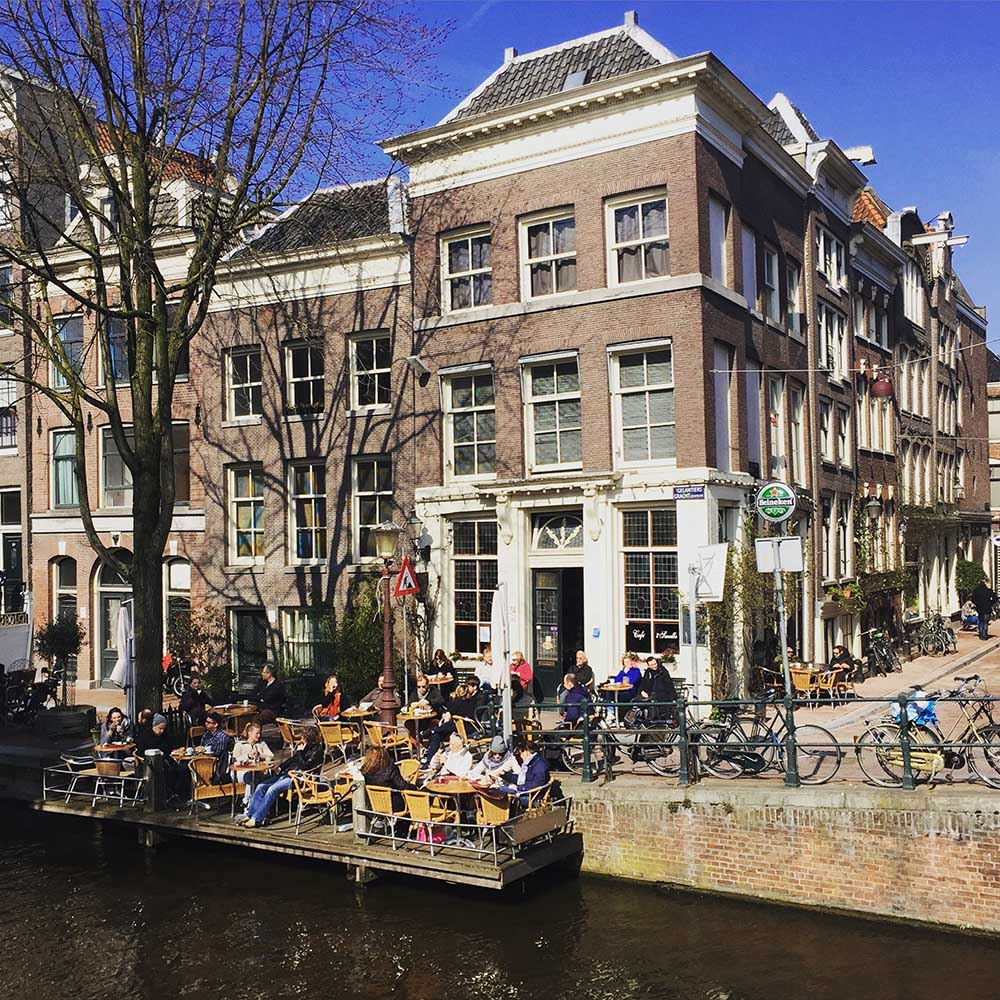 BEST WATERSIDE TERRACES IN AMSTERDAM: sip a drink canalside: cafe t Smalle