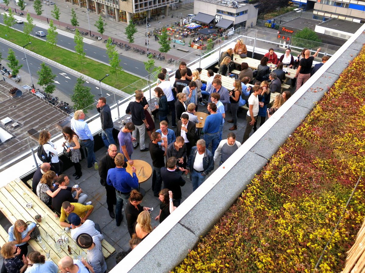 Best rooftop bars and skylounges in Amsterdam - Canvas - Volkshotel - awesomeamsterdam.com