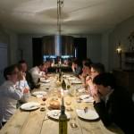 dinner at de uitvreter in Amsterdam, private dining, group dining
