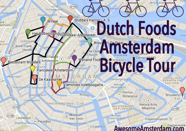 Dutch Foods cycling route Amsterdam