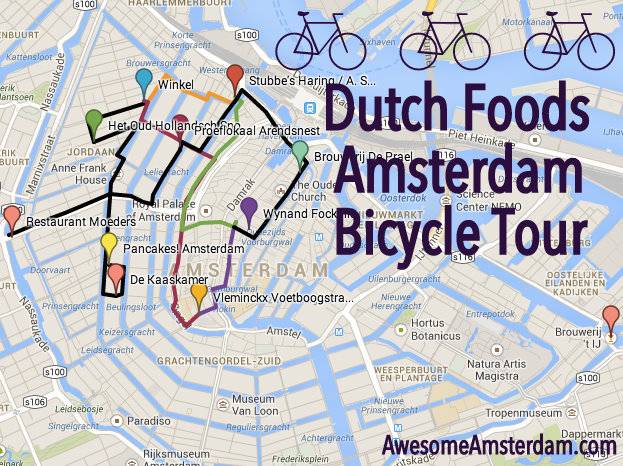 DUTCH FOODS BICYCLE TOUR OF AMSTERDAM - self-guided route