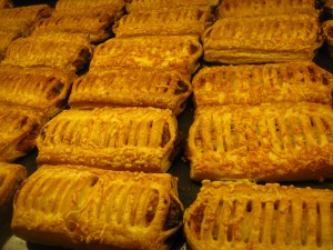 A puff pastry shell with a cheese filling inside, kaasbroodjes are a savory treat typically eaten for breakfast in the morning or as a snack in the Netherlands. Are you a fan of Dutch cuisine? Check out our list of 30 Dutch foods you should try.