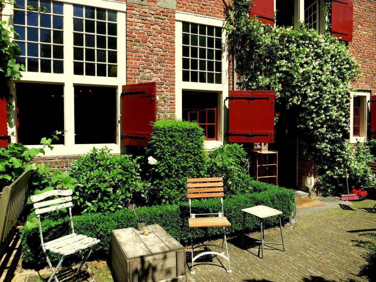 BEST GARDEN CAFES IN AMSTERDAM - dine in a leafy garden