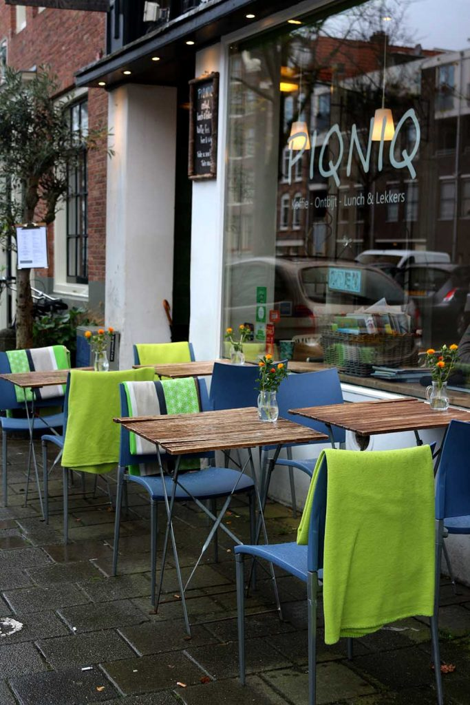 An oh-so-charming cafe in the Jordaan, PIQNIQ serves yummy breakfast, lunch, sweets, tea, juice and coffee. PIQNIQ AMSTERDAM