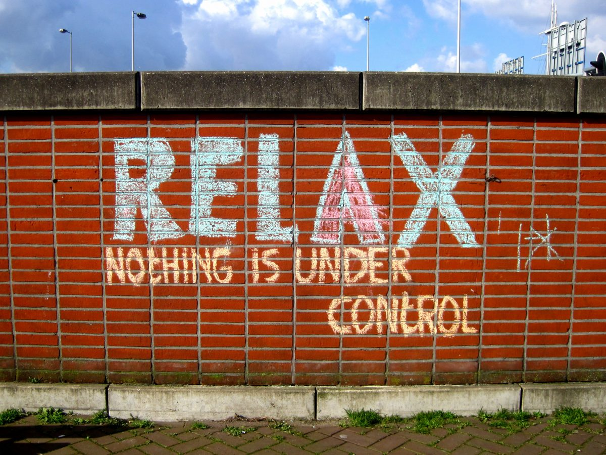 Amsterdam street art :: relax nothing is under control