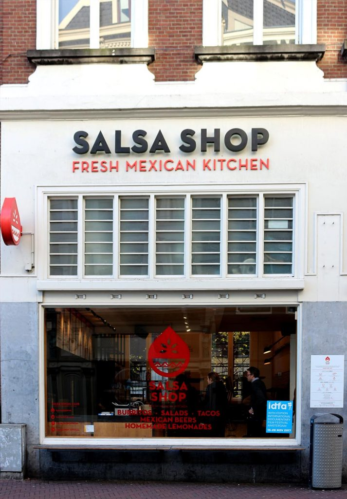At the Salsa Shop Amsterdam you build your own tacos or burritos (or even a salad) choosing from several different meats and other fillings. Top it off with one of their flavorsome salsas for a picante kick.