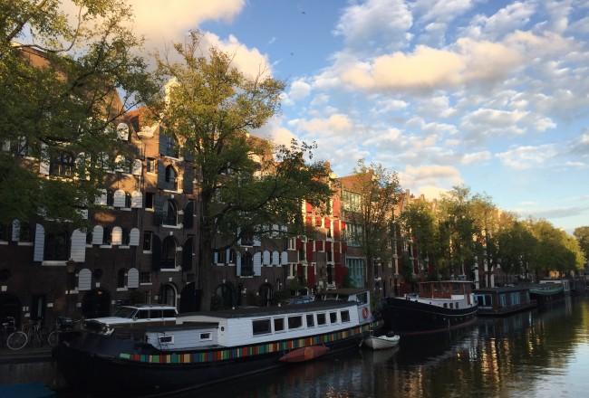 summer amsterdam brouwersgracht canal