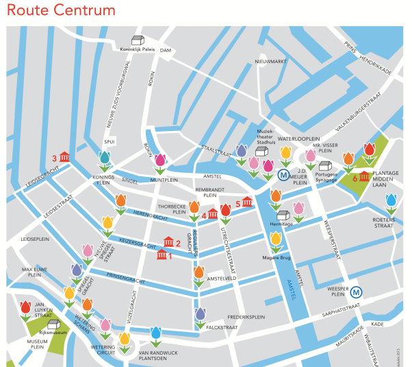tulpendagen route centrum