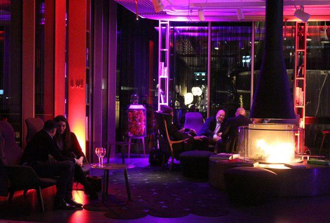 W Hotel Amsterdam - fireplace