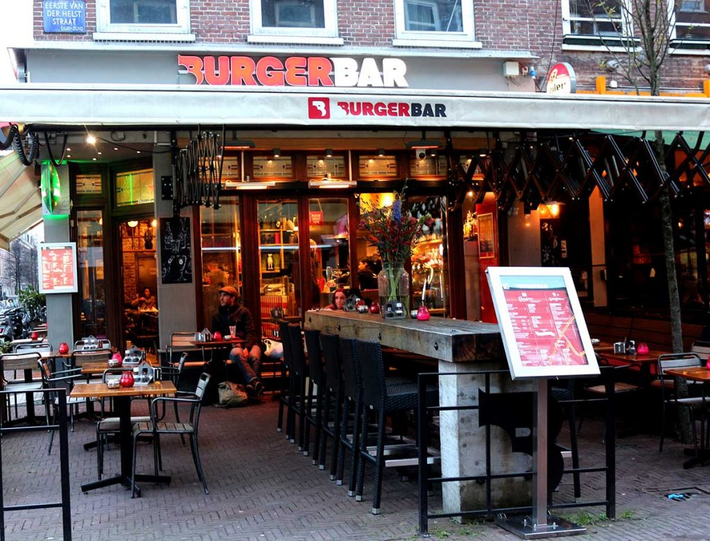 Burger Bar serves up tasty hamburgers that you build yourself from their list of topping options. BEST Veggie BURGERS IN AMSTERDAM