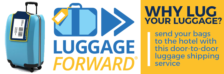 send your luggage direct with Luggage Forward