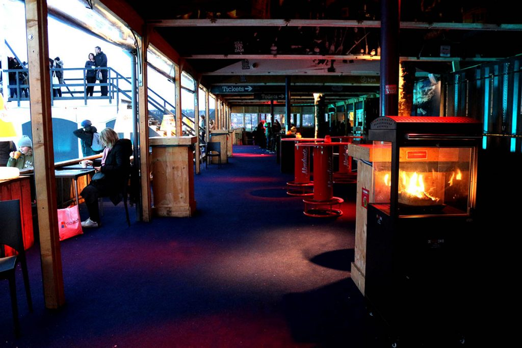 Ice skating in Amsterdam at Museumplein at IceAmsterdam