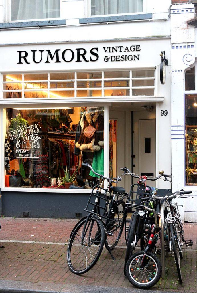 BEST VINTAGE CLOTHING SHOPPING IN AMSTERDAM - rumors vintage
