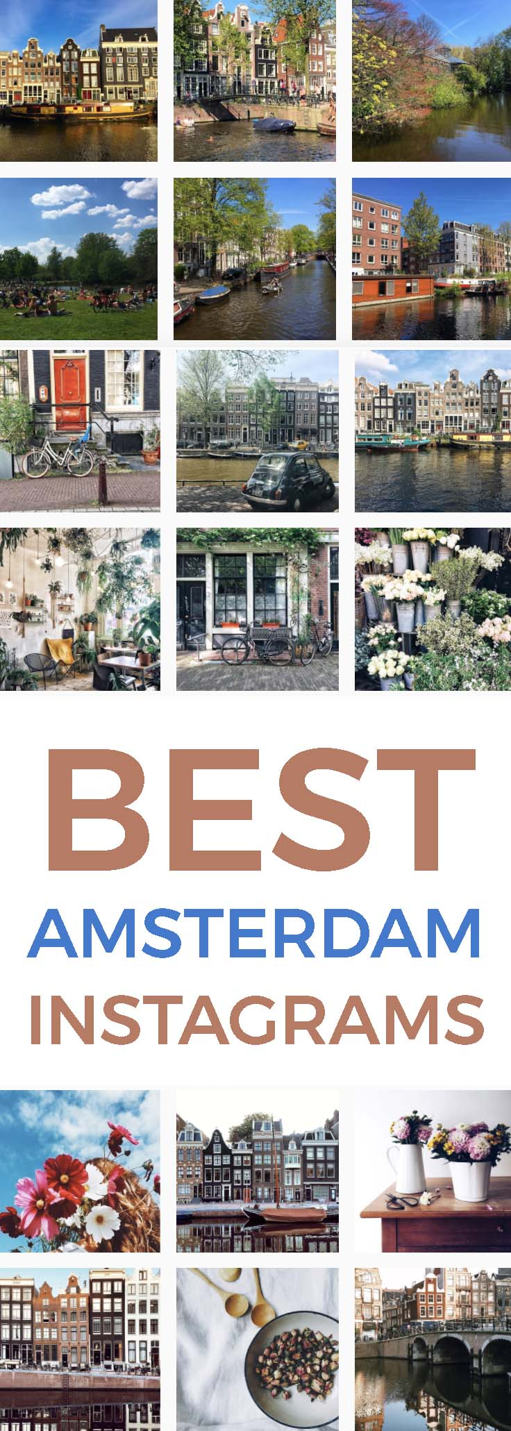 BEST AMSTERDAM INSTAGRAMS: I love Instagram, don't you? It is such a fun way to see images of places and things we love, whether we are near or far. Here are some of my favorite Amsterdam Instagram accounts.