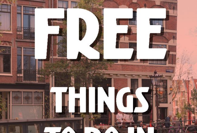 23 FREE things to do in Amsterdam :: fun free things to do if you are on a budget