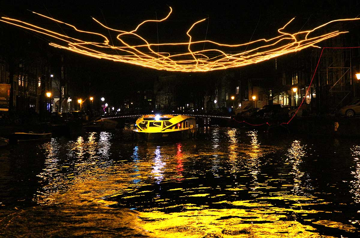The Amsterdam Light Festival 2017-18 adds bright beauty to the city during the darkest months of the year. View the spectacular light sculptures created by artists in public spaces either on foot, by bicycle or by canal boat