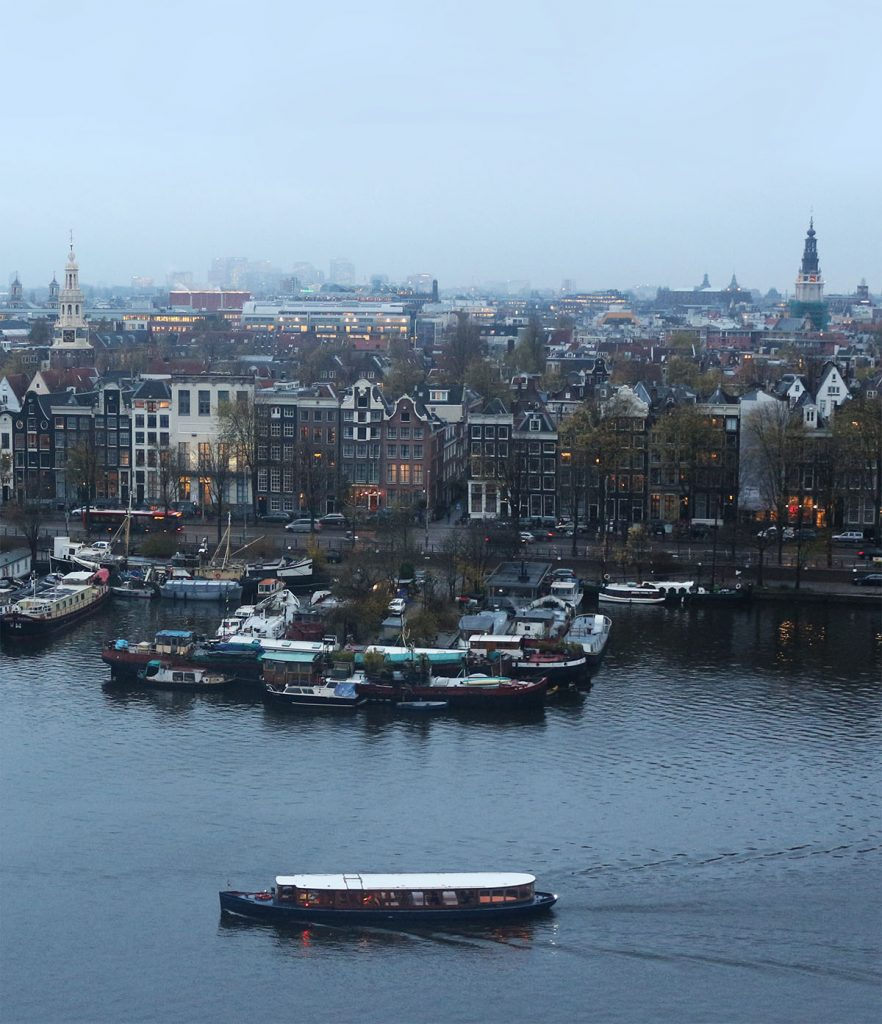 OBA view - rooftops in Amsterdam