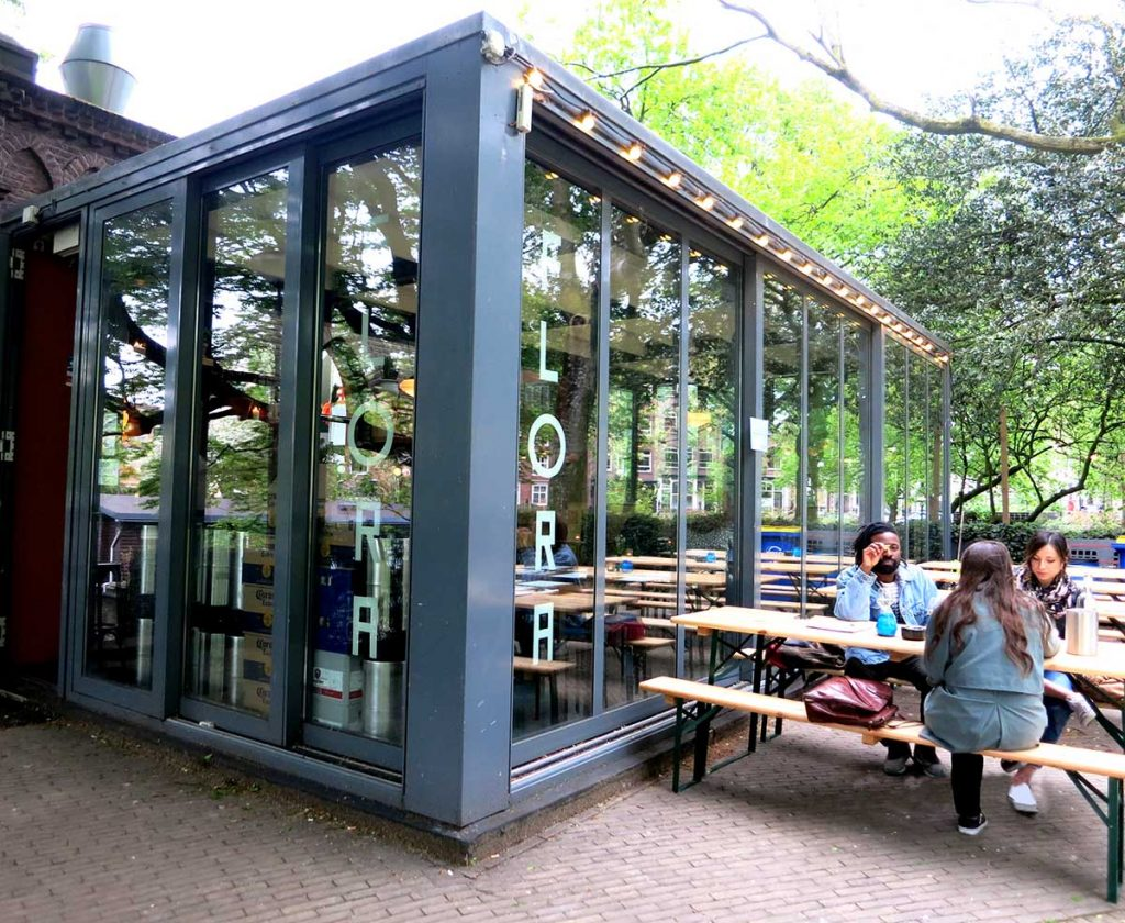 Flora Amsterdam - tasty Mexican fusion menu hidden in a sweet neighborhood park
