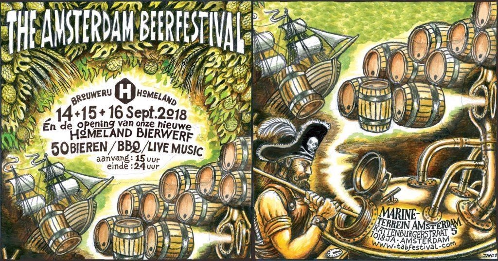 Amsterdam BeerFestival: Marineterrein September 14-16, 2018